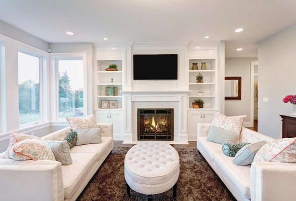 Caledon realtors white living room fireplace