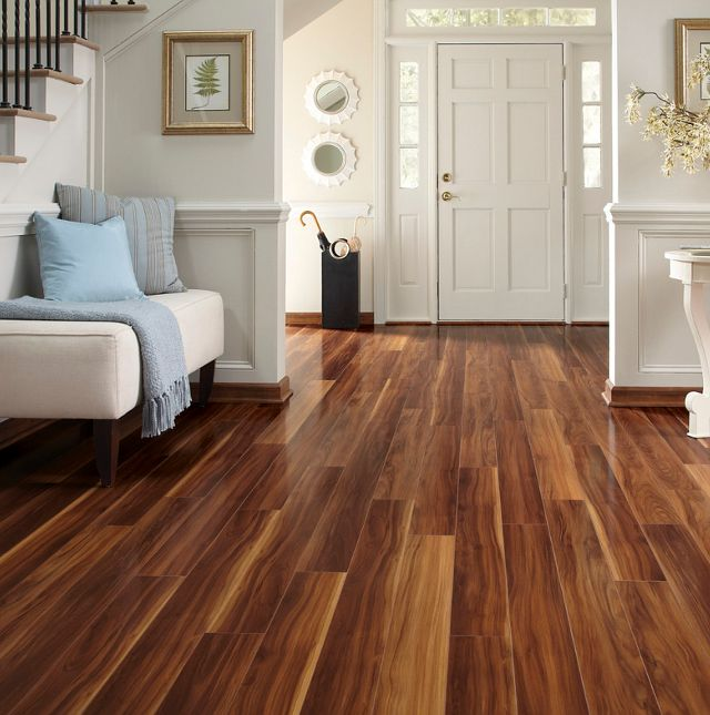 Acacia flooring in entrance way hall
